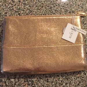 J. Crew Rose Gold Clutch Pouch NWT